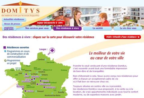 Visite virtuelle 360 hd de residence services seniors Domitys par Showaround