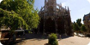 Visite virtuelle 360° haute définition parvis église Saint-Maclou à Rouen par Showaround