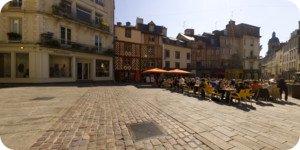 Visite virtuelle 360° flash haute définition place Rallier du Baty à Rennes par Showaround