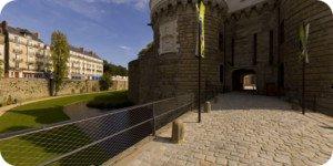 Visite virtuelle 360° flash haute définition face au château des Ducs de Bretagne à Nantes par Showaround