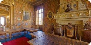 Visite virtuelle 360° flash haute définition intérieure de l'Hôtel Groslot à Orléans par Showaround