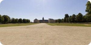 Visite virtuelle 360° flash haute définition des jardins Ornano à Caen par Showaround