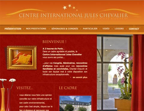Site internet du Centre de séminaires international Jules Chevalier