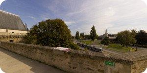 Visite virtuelle 360° flash haute définition des remparts du Château des ducs de Bretagne à Nantes par Showaround
