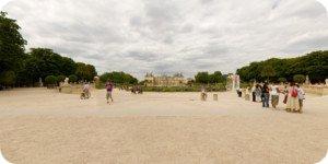 Visite virtuelle 360° flash haute définition des Jardins du Luxembourg (les allées) à Paris par Showaround