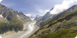 Visite virtuelle 360° flash haute définition du plateau de Montenvers à Chamonix Haute Savoie par Showaround