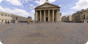 Visite virtuelle 360° flash haute définition de la Place du Panthéon à Paris par Showaround