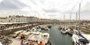 Visite virtuelle 360° flash haute définition du port de Saint Martin de Ré sur l'Ile de Ré par Showaround