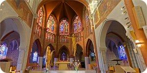 Visite virtuelle 360° flash haute définition de la basilique Notre Dame du Sacré Coeur à Issoudun par Showaround