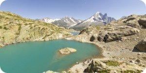 Visite virtuelle 360° flash haute définition du Lac Blanc à 2352 mètres à Chamonix par Showaround