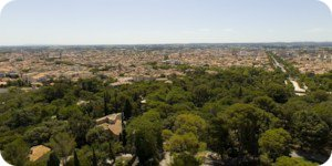 Visite virtuelle 360° flash HD du haut de la Tour Magne à Nimes par Showaround