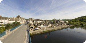 Visite virtuelle 360° flash haute définition du pont de la République à Argentat en Corrèze par Showaround