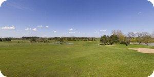 vue 360° du golf de Marcilly